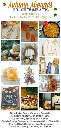 Autumn Abounds with 13 fabulous fall decor ideas, crafts and recipes!