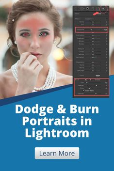 This Lightroom photo editing tutorial will show you the basics on how to dodge and burn portraits in Lightroom. Experienced photographers and beginners will learn how to make their portrait photos pop without needing Photoshop. Lightroom Presets For Portraits, Adobe Photoshop Lightroom, How To Apply Makeup, Portrait Photo, Wide Angle, Vignettes, Your Image, Light In The Dark, Dodge