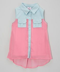 For Drez http://www.zulily.com/invite/vhanson979 Look at this #zulilyfind! Pink Pocket Top - Girls #zulilyfinds