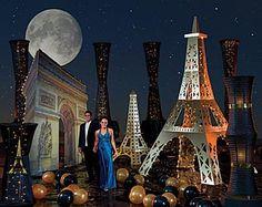 Gold Lights of Paris Prom Theme!