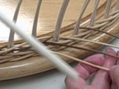 Baskets: Weaving a 4 Rod Wale - YouTube