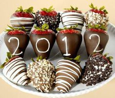 Chocolate covered strawberry's to ring in The New Year!