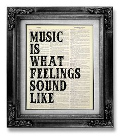 Music Wall QUOTE MUSIC Wall Saying Music Wall Art by GoGoBookart, $10.00