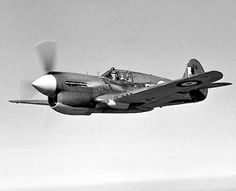 The P-40 had a maximum speed of 360 mph, a rate of climb of 2,100 feet per minute and a service ceiling of 29,000 feet. The P-40 was armed with six Browning M2 .50 caliber machine guns and could carry a 1,000 lb. bomb.