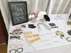Photo Booth Wedding props! This Magic Mirror hire started off with these cute, pretty wedding props. Don't worry, the funky hats and glasses were out by 10pm!! 😂