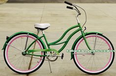 """beach cruisers apple green and pink micargi 