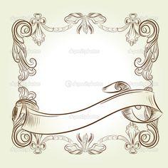 古典的なヴィンテージ ビクトリアン フレーム - ストックイラストレーション: 9343474