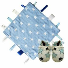 German Store, Dou Dou, Leather Baby Shoes, Security Blanket, Navy And White, Soft Leather, Baby Gifts, Comforters, Fish