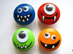 Monster Drawer Knobs With Googly Eyes (wk02)