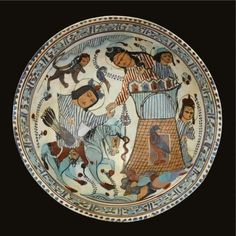 A fine Kashan Minai pottery bowl, Persia, 12th-13th century