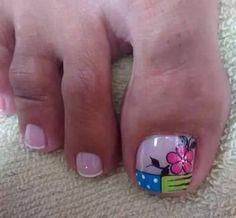 Toenails, Toe Nail Art, Nail Designs, Tattoos, Pretty Toe Nails, Simple Toe Nails, Tatuajes, Toe Nails, Nail Desings