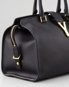 Saint Laurent Y Ligne Medium Soft Leather Bag, Black