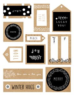 Natural gift wrap ideas and free printable gift tags by West Coast Gardens in Vancouver Surrey BC