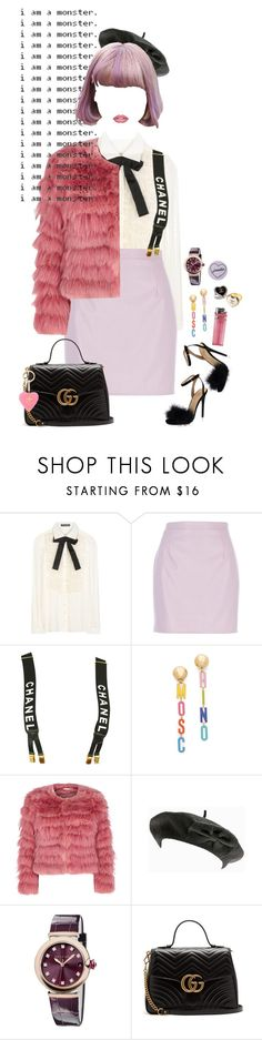 """well, you know that I'm a wicked chick"" by royal-rainbow ❤ liked on Polyvore featuring Dolce&Gabbana, River Island, Chanel, Moschino, Alice + Olivia, Bulgari, Gucci and Forever 21"