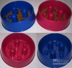 Wholesale Brake Fast Plastic Slow Feed Dog Food Bowl Stop Eating Fast Medium, $7.28-12.75/Piece | DHgate