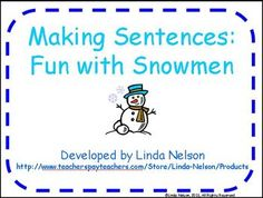 Use 19 high frequency word cards to build sentences at the pocket chart! Also includes models of sentences to build, 3 pointers to make, and a student response sheet. $