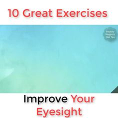 Exercises to Improve Your Eyesight - simple eye exercises to improve your eyesight. 3 easy eye exercises to improve vision naturally Gym Workout For Beginners, Fitness Workout For Women, Good Health Tips, Health And Beauty Tips, Eye Facts, Healing Codes, Eye Sight Improvement, Vision Eye, Healthy Eyes