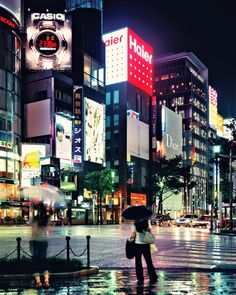 ginza neon night rain | Flickr - Photo Sharing!