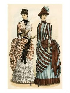 ladies fashion ideas that look really hot 786829 1880s Fashion, Edwardian Fashion, Vintage Fashion, Historical Costume, Historical Clothing, Victorian Costume, Victorian Era, Victorian Dresses, Magazine Mode
