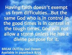 God will not allow a storm unless He has a divine purpose for it. #faith #GodisinControl