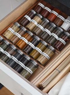 Barefoot Contessa - Easy Tips - Spice drawer and jars