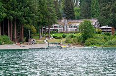Lake Quinault Lodge in Olympic National Park and Forest. Surrounded by forest and overlooking Lake Quinault, the rustic lodge is long on comfort and vintage charm.