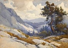 Today while visting the LA Art Show, I discovered the beautiful watercolors of Percy Gray, an early 20th century painter who deftly captured the splendor of the landscape of California.