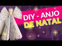 Diy - Anjo feito com livro - Enfeite de Natal #PatyDecora por Patrícia Braga
