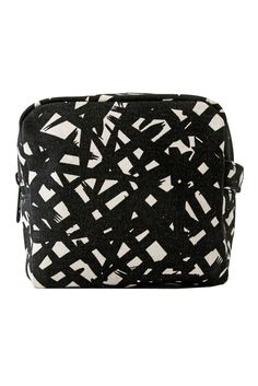 See Design Small Cosmetic Bag Bales Black/White Large Cosmetic Bag, Everyday Objects, Color Stories, Cool Names, Painting Patterns, Make And Sell, Crate And Barrel, Cotton Canvas, Contemporary Design