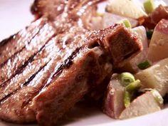 Grilled Apple Brined Pork Chops
