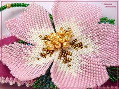 Flower tute and schema. (Translate) #Seed #Bead #Tutorial