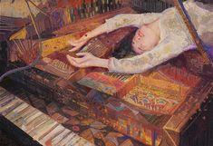 Xuanwei Su Ethereal Digital Portraits Of Daydreaming Girls Reminiscent Of Klimt Illustrations, Illustration Art, Art Graphique, Pretty Art, Chinese Art, Aesthetic Art, Asian Art, Female Art, Art Boards