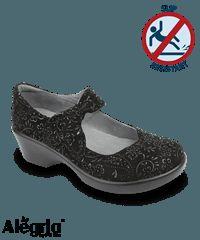 Alegria Shoes Black Sprigs Ella 2 Nursing Shoe