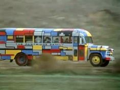 The giant, psychedelic-hued tour bus used by the close-knit family of exceptionally talented musicians. This iconic bus represents the good old days when an 8-person family could share unnaturally close quarters for abnormally long periods of time and not have the Division of Family Services called on them