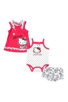 Toile Print Dress, Bodysuit, & Diaper Cover 3-Piece Set (Baby Girls) by Hello Kitty on @HauteLook