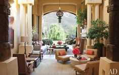 Will & Jada's living room in their Malibu retreat. Upcoming Architectural Digest issue