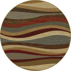 Alise Rhythm Multi Round Contemporary Area Rug (5'3 Round), Size 5' x 5' (Plastic, Abstract)