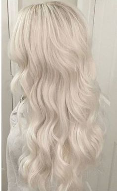My blonde hair is beautiful Platinum Blonde Hair Color, White Blonde Hair, Blonde Hair Looks, Platnium Blonde Hair, Long White Hair, Icy Blonde, Aesthetic Hair, Silver Hair, Ombre Hair