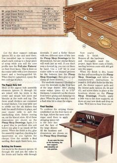 Federal Secretary Desk Plans - Furniture Plans