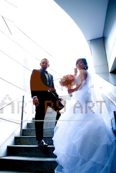 Bride and Groom in Down Town Los Angeles