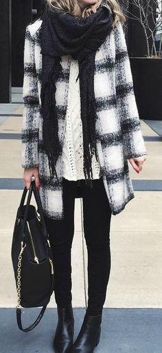 Black and Tan Plaid Coat by LuLu*s