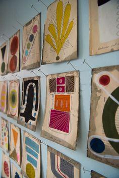 Creative Drawing Julie Wolfe - Inside The Artist Studio Art Du Collage, Picasso Paintings, Art Paintings, Small Art, Art Plastique, Art Studios, Art Lessons, Paper Art, Modern Art