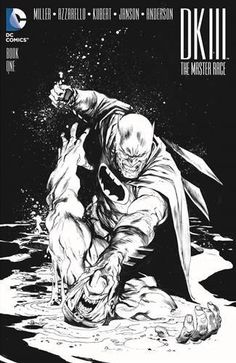 Dark Knight III The Master Race BAM Black & White Variant Cover By Rafael Albuquerque Near Mint/Mint The epic ending you never saw coming is here because you demanded it! The Dark Knight rises again to face the dawn of the master race! Dark Knight Returns, The Dark Knight Rises, Batman The Dark Knight, Batman Vs Superman, Batman Art, Batman Robin, Batman Comic Books, Comic Books Art, Vintage Comic Books