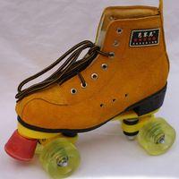 Professional Women Men's Quad Roller Skates Boots Lace Up Double Line Skating Shoes 4 Wheels Roller Shoes