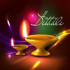 Happy diwali animated greetings by lawangi diwali festival free vector illustration of happy diwali hindu community festival in background colorful glossy lines with fast m4hsunfo