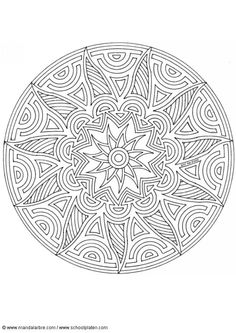 Interesting circular and flower shape mandala with lots of curving lines and shapes, cool design!