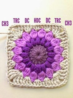 Crochet Granny Squares Blanket AnnieColors: Sunburst Granny Square Pattern, thanks so xox Motifs Granny Square, Granny Square Pattern Free, Sunburst Granny Square, Crochet Motifs, Granny Square Crochet Pattern, Crochet Squares, Crochet Blanket Patterns, Crochet Stitches, Knitting Patterns