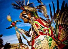 Colorful powwow dancer!