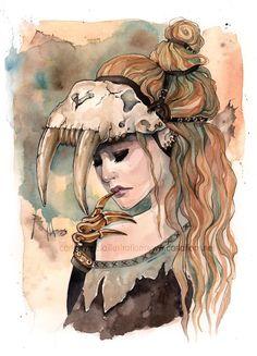 skull girl. Tattoo idea