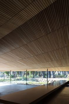 Image 4 of 29 from gallery of Restaurant in Tokyo Metropolitan Teien Art Museum / KUME SEKKEI Co. Photograph by Naomichi Sode Kinetic Architecture, Canopy Architecture, Museum Cafe, Art Museum, Zen Interiors, Japanese Minimalism, Tokyo Restaurant, Cafe Wall, Japanese Interior